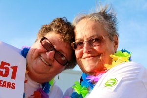 Mary Maguire, left, with her wife Jackie Emmett, have been together for 52 years (Courtesy KUTTNERPix)
