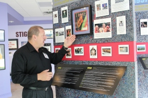Ed Sparan at the World AIDS Museum. (Photo by Christiana Lilly)