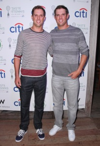 Mike, left, and Bob Bryan attended Taste of Tennis at W South Beach.  (©Getty Images)