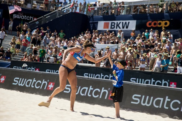 April Ross, an American player, will be competing in the tournament as a wild card. She was one of 42 athletes who signed an amicus brief to the Supreme Court showing their support for gay marriage. (Swatch Majors)