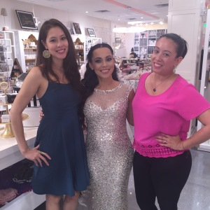 Me, Adrienne Bosh, and Aurora Rodriguez